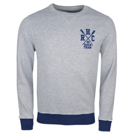 Sweat col rond Hackett gris Aviron pour homme