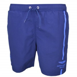 Short de bain Hackett bleu marine Aston Martin pour homme