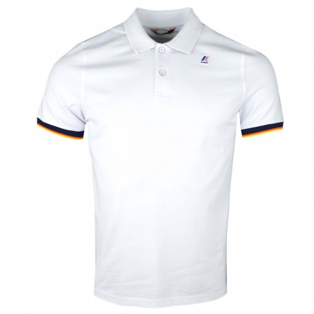 Polo K-Way blanc régular fit pour homme