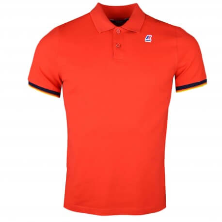 Polo K-Way rouge régular fit pour homme
