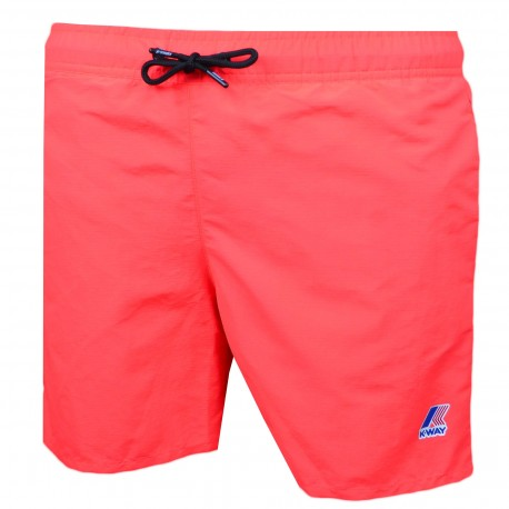 Short de bain K-way orange fluo pour homme