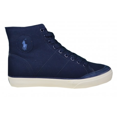 Baskets montantes Ralph Lauren bleu marine en toile pour homme