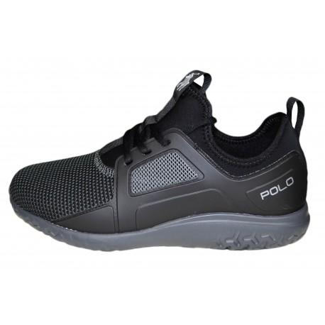 Baskets sneakers Ralph Lauren Train 150 noire pour homme