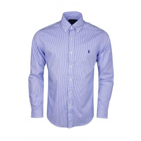 Chemise rayée Ralph Lauren bleu et blanche slim fit pour homme