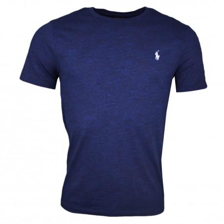 T-shirt col rond Ralph Lauren bleu marine irisé logo bleu pour homme