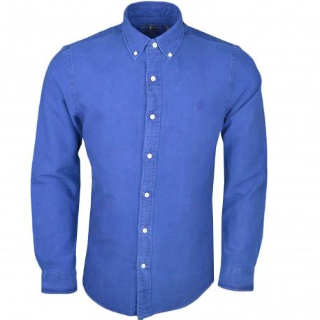 Chemise dénim Ralph Lauren bleu indigo slim fit pour homme