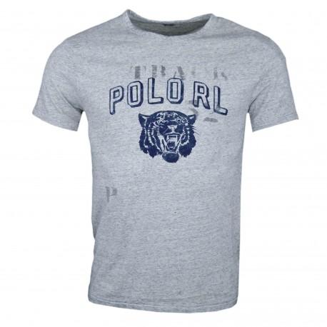 T-shirt col rond Ralph Lauren POLO gris pour homme