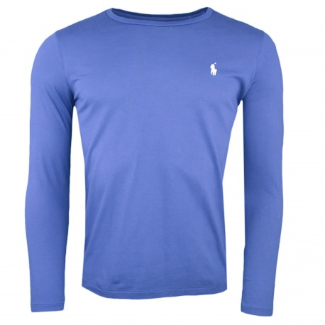 T-shirt manches longues Ralph Lauren bleu marine pour femme