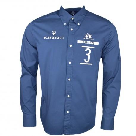 Chemise La Martina bleu marine Maserati régular pour homme