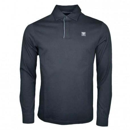Polo chemise Hackett noir Aston Martin pour homme