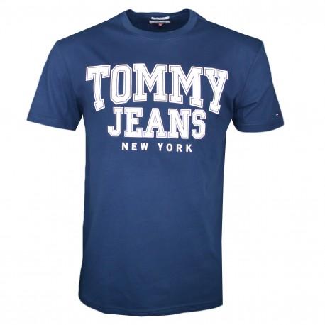 T-shirt col rond Tommy Jeans bleu marine régular pour homme