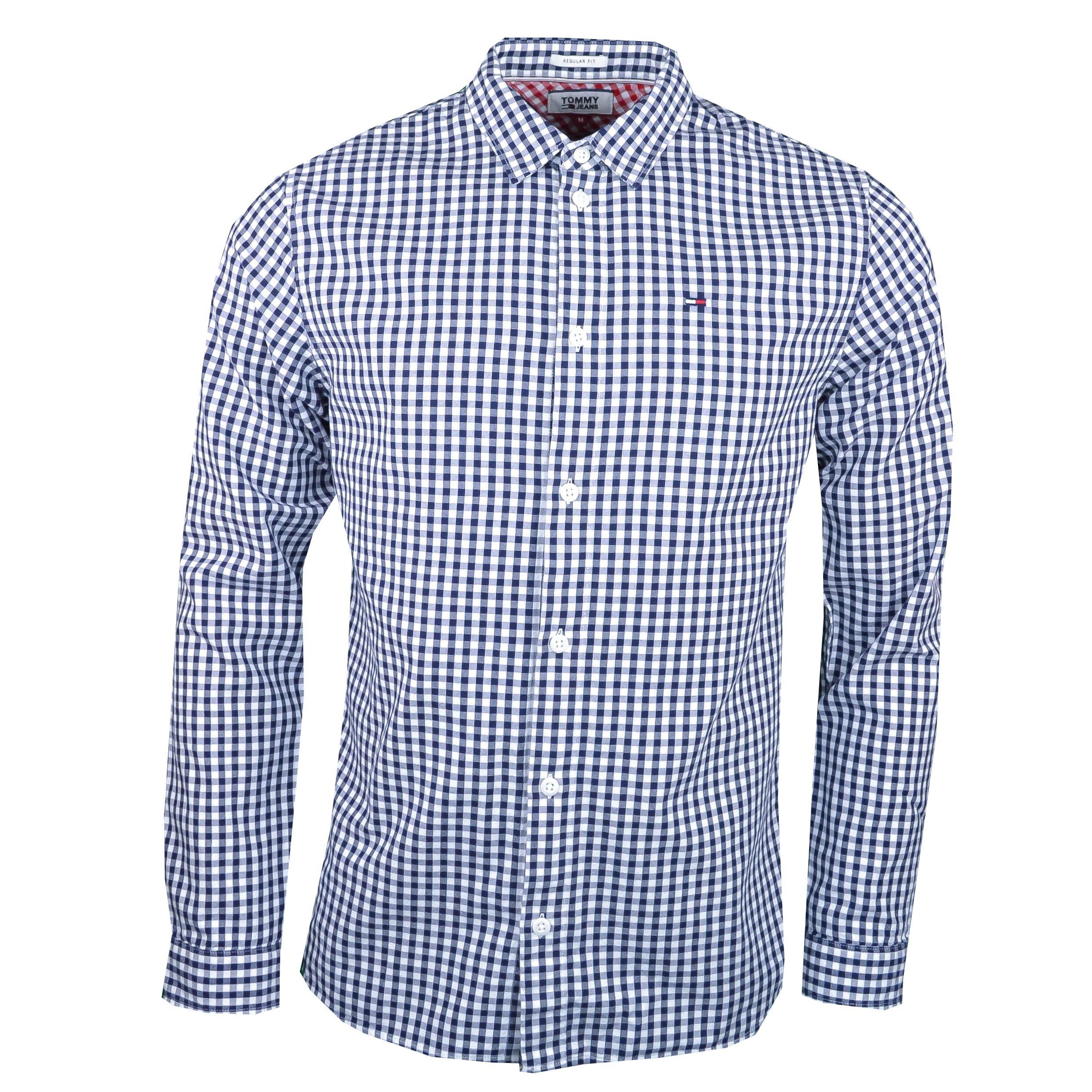 À Blanc Marine Pour Ho Jeans Bleu Tommy Chemise Régular Carreaux Et n0wkOP8