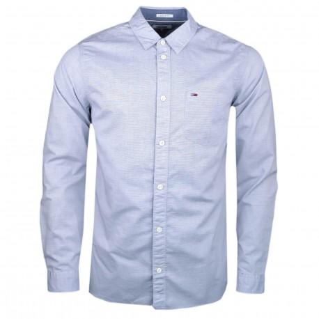 Chemise Tommy Jeans bleu gris regular pour homme