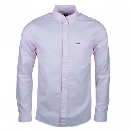 Chemise oxford Tommy Jeans rose regular pour homme