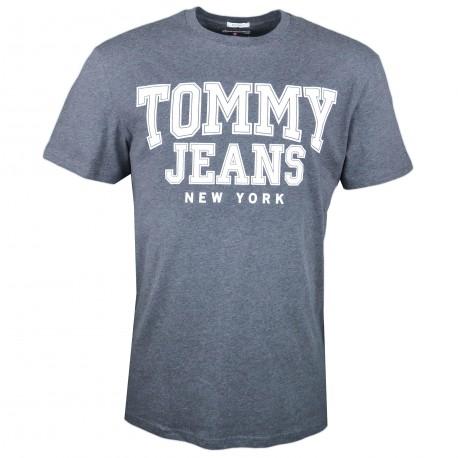 T-shirt col rond Tommy Jeans gris New York régular pour homme
