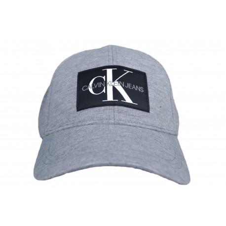 Casquette Calvin Klein Jeans grise logo carré noir pour homme