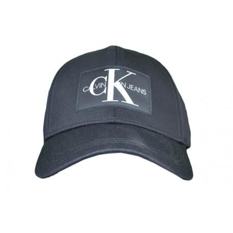 Casquette Calvin Klein Jeans noir logo carré noir pour homme