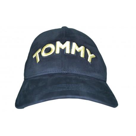 Casquette Tommy Jeans noire logo doré pour femme