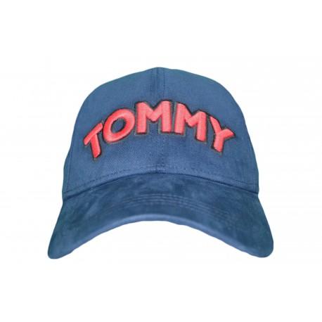 Casquette Tommy Jeans bleu marine logo rouge pour femme