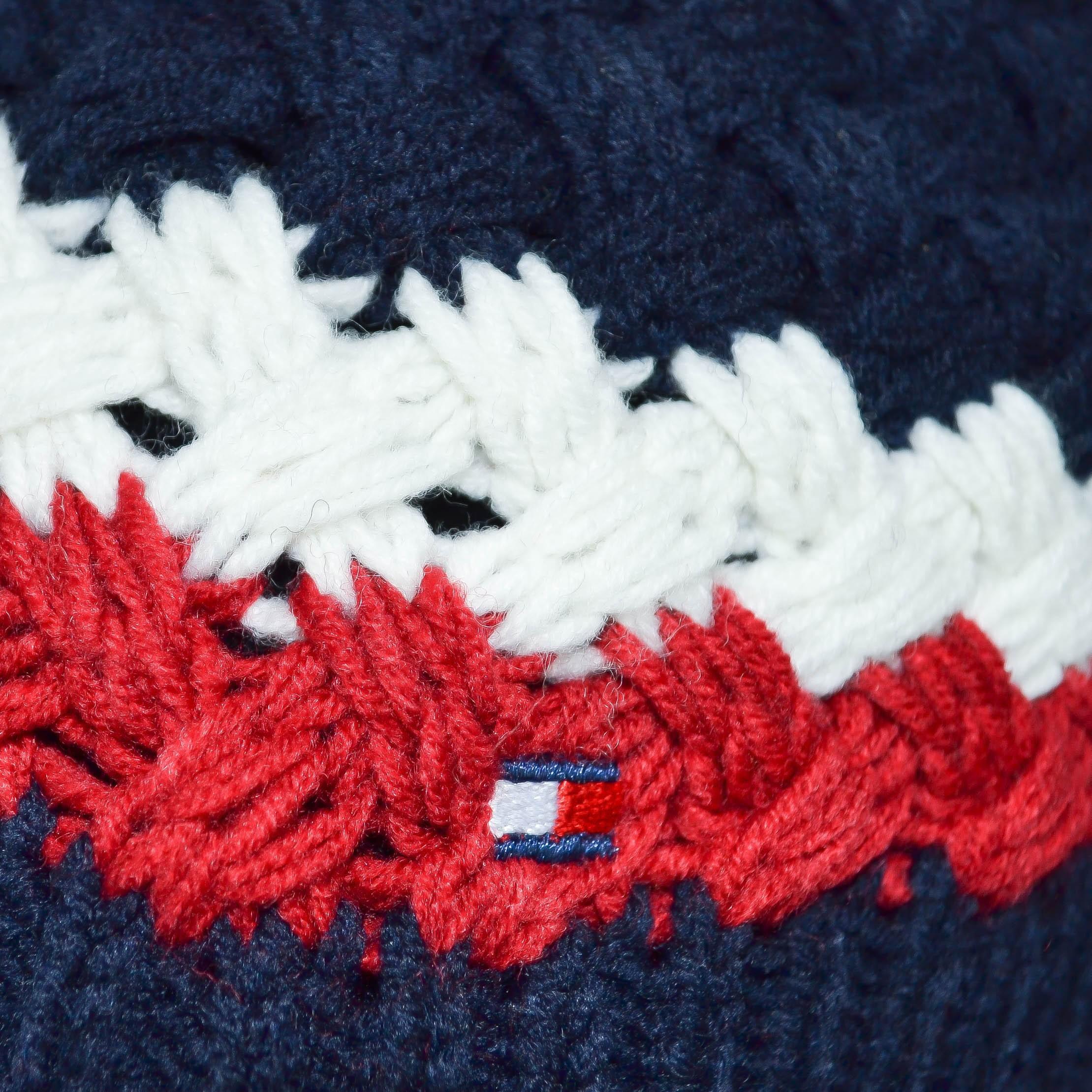44ea4d506c1b Bonnet tricoté Tommy Hilfiger bleu marine en laine pour homme - Tou...