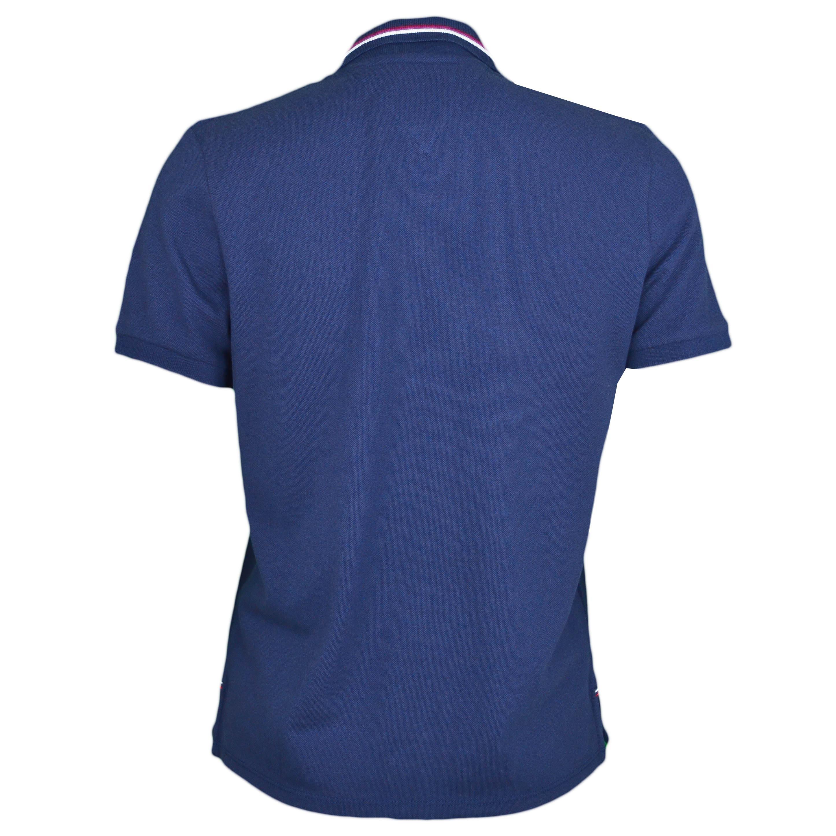 Tommy Rouge Marine Bleu To Et Polo Femme Lisérés Blanc Pour Jeans N8vnm0w