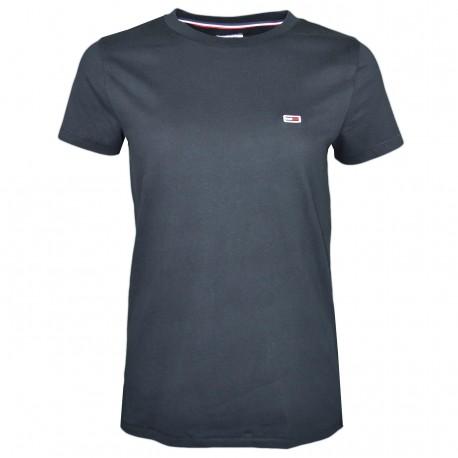 T-shirt col rond Tommy Jeans noir pour femme