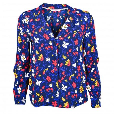 Chemise fluide Tommy Jeans bleu à motifs fleurs pour femme
