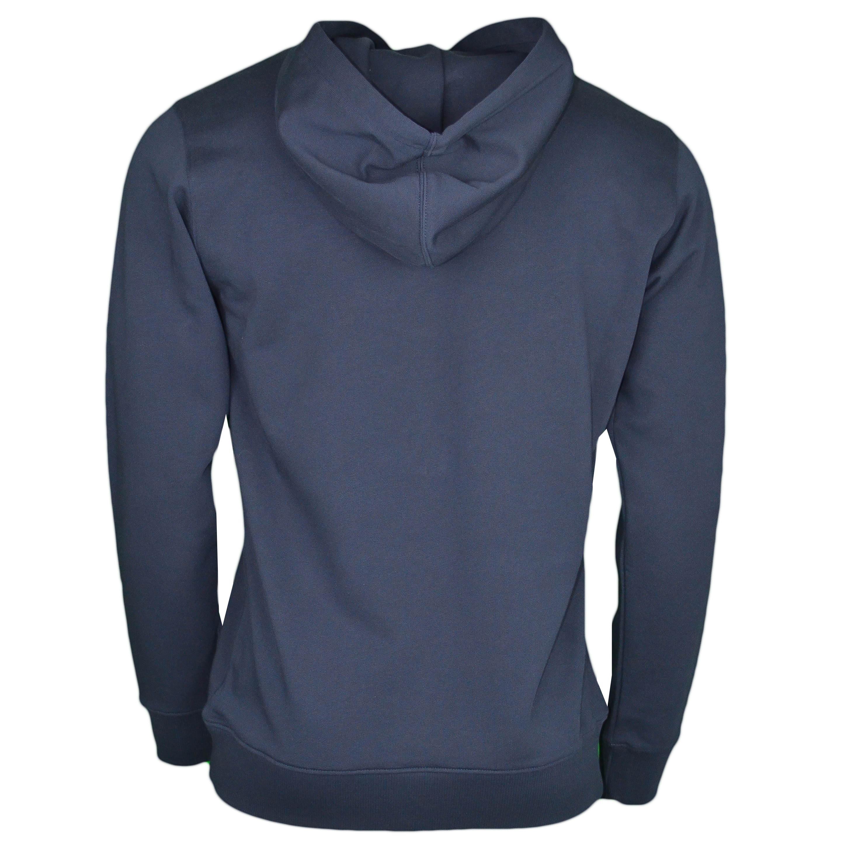 couleur n brillante france pas cher vente grande remise pour Sweat à capuche bleu marine Calvin Klein flocage carré noir pour ho...