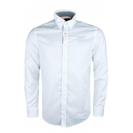 Chemise oxford Hackett blanche Aston Martin slim fit pour homme