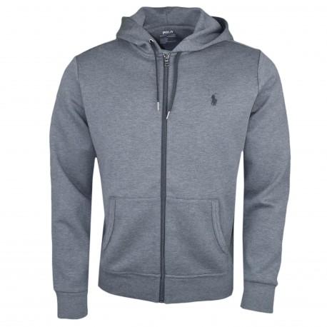 Veste zippée Ralph Lauren grise pour homme