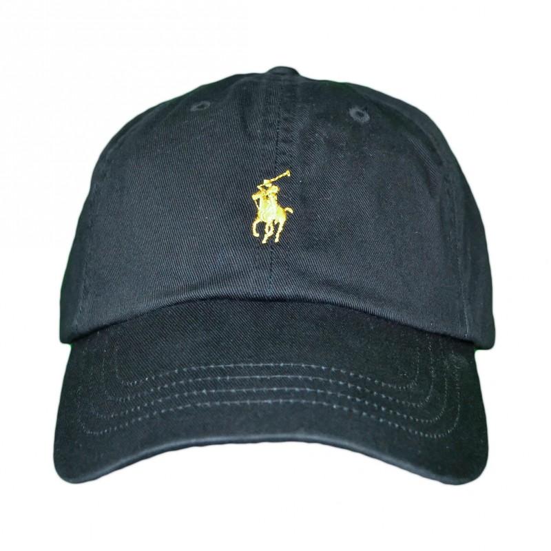 la meilleure attitude 6eab0 a4935 Casquette Ralph Lauren noire logo doré pour homme - Toujours ...
