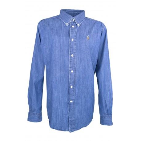 Chemise large Ralph Lauren bleu en jean pour femme