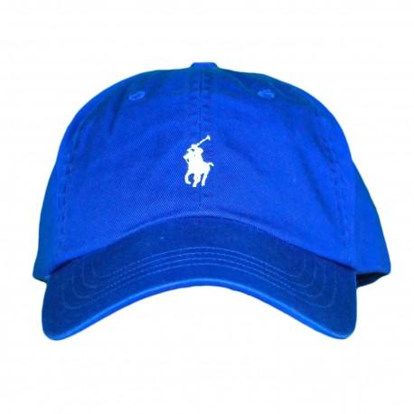 Casquette Ralph Lauren bleu royal logo bleu ciel pour homme