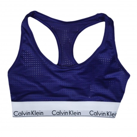 Brassière Calvin Klein violette pour femme