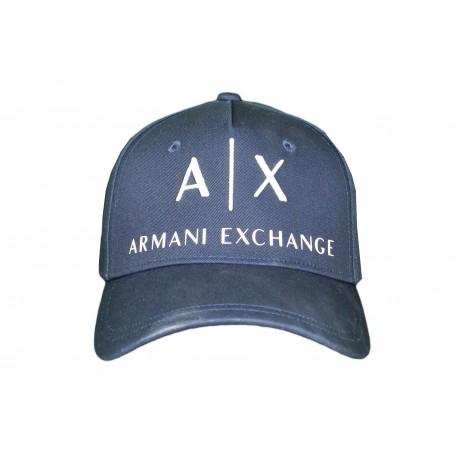 Casquette Armani Exchange bleu marine pour homme