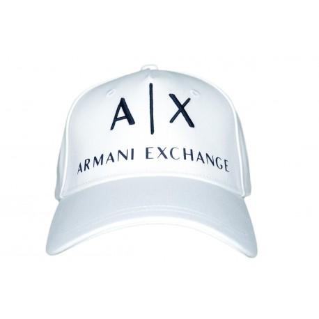 Casquette Armani Exchange blanche pour homme