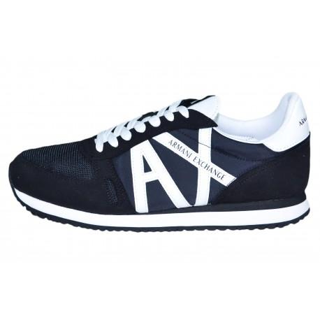 Baskets sneakers Armani Exchange noire pour homme