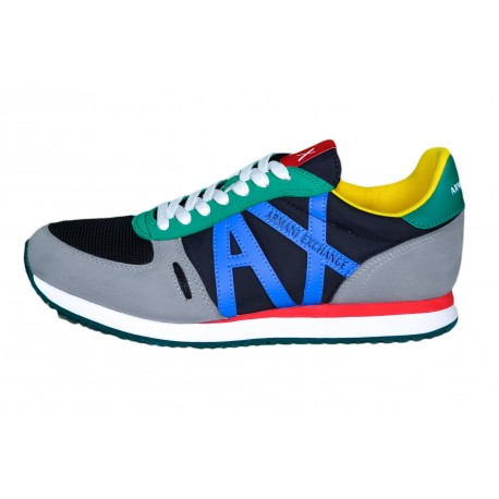 Baskets sneakers Armani Exchange multicolore pour homme