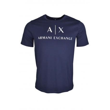 T-shirt Armani Exchange bleu marine pour homme