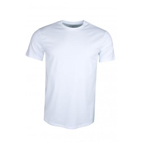 T-shirt col rond Armani Exchange blanc basique pour homme