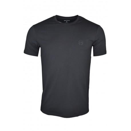 T-shirt col rond Armani Exchange noir pour homme