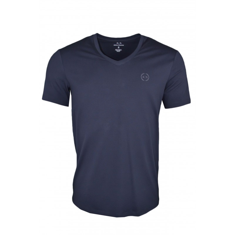 V T Exchange Bleu Marine Touj Armani Pour Col Homme Basique Shirt k8nP0wO