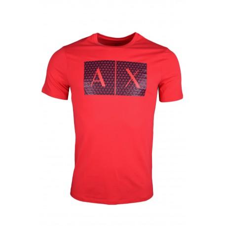 T-shirt Armani Exchange rouge pour homme