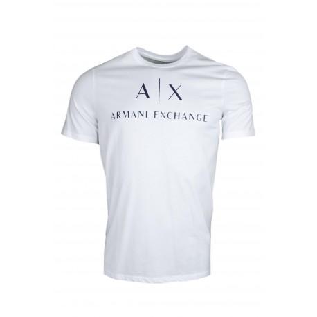 T-shirt Armani Exchange blanc pour homme
