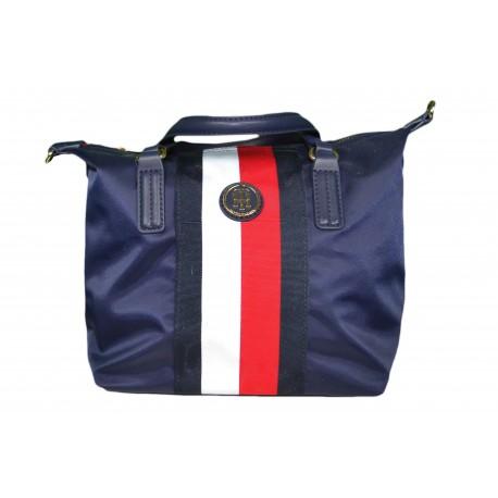 Petit sac Tommy Hilfiger bleu marine rouge blanc en nylon pour femme