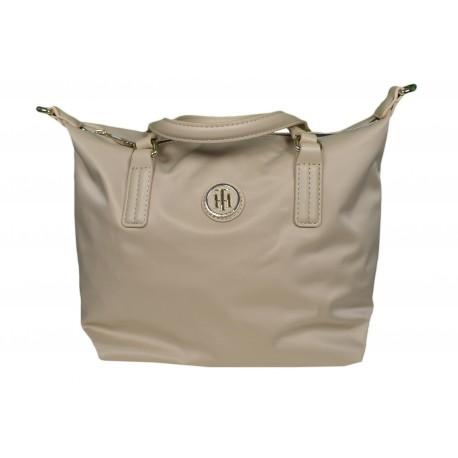 Petit sac Tommy Hilfiger beige en nylon pour femme