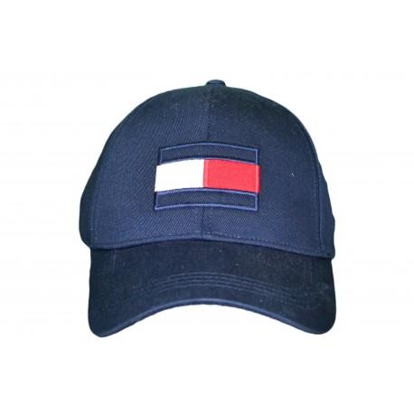Casquette Tommy Hilfiger bleu marine Big Flag pour homme