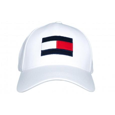 Casquette Tommy Hilfiger blanche Big Flag pour homme