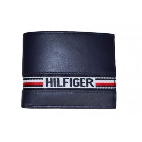 Portefeuille Tommy Hilfiger bleu marine pour homme