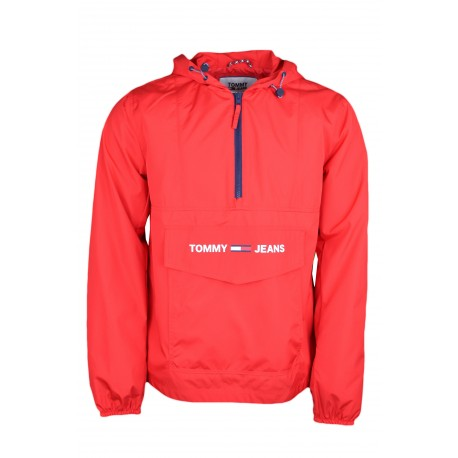 Coupe-vent enfilable Tommy Jeans rouge pour homme